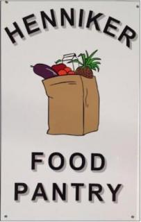food pantry logo of a paper bag filled with groceries