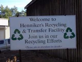 transfer station welcome sign